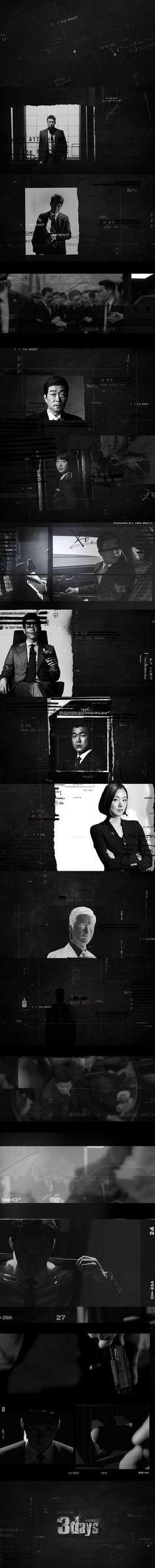 title sequence - motion graphics/ storyboards - styleframes | '3Days'( 쓰리데이즈 ) Opening Title:
