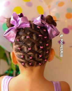 Large and Loose Braid with a High Pony - Braided Ponytail Hairstyles Cute Little Girl Hairstyles, Baby Girl Hairstyles, Baddie Hairstyles, Toddler Hairstyles, Wedding Hairstyles, Girl Hair Dos, Braided Ponytail Hairstyles, Girls Braids, Hair Hacks
