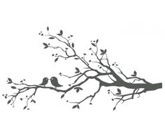 Love Birds On Branch Clip Art Clipart Vogel Clipart, Bird Clipart, Bird Wall Decals, Vinyl Wall Art, Kunst Online, Online Art, Tree Branch Tattoo, Tattoo Bird, Tattoo Tree