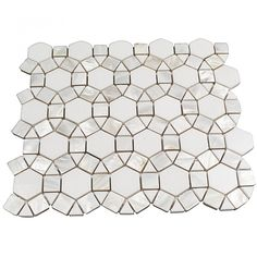 Victoria Pearl White Thassos Marble and Pearl Shell Tile - Victoria - Stone Collections