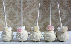 Wedding Cake Pops from The Cake Pop Girls! (They were delicious!)