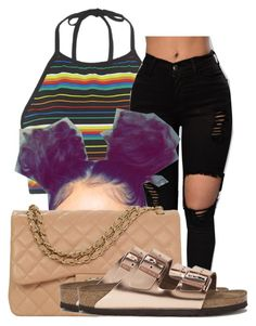 """""""Untitled #536"""" by sipping-gold ❤ liked on Polyvore featuring Motel, Chanel and Birkenstock"""