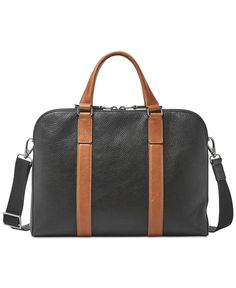 7a9458bf4f3f Fossil Men s Mayfair Leather Workbag Men - All Accessories - Macy s