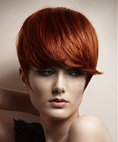 short red straight coloured hairstyles for women