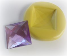 Square Gem Mold Resin Clay Faceted Jewelry Mould. $5.95, via Etsy.