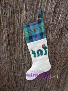 Christmas Stocking Loch Ness Monster Handmade Pure Wool £10.99 plus shipping anywhere in the world