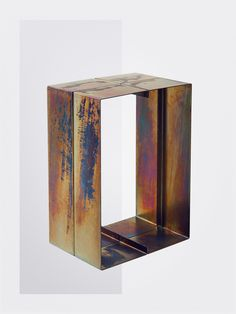 Side Table      Material: Electroplated, galvanised zinc   Dimensions:  95 X 50 X 35 cm   2015    Price upon request
