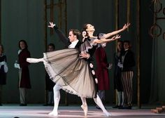 "Diana Vishneva and Kostantin Zverev in Ashton's  ""Marguerite and Armand""  Mariinsky Ballet at the Royal Opera House, London, England (August 2014)  Photos via Vishneva's FB page."