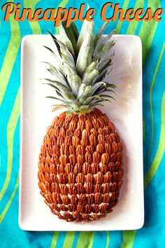 Pineapple Cheese is shaped like a pineapple and covered in pecans. It's a retro party appetizer that your guests will find as amusing as it is delicious.