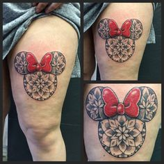 Pattern Work / Mandala Minnie Mouse Head by Joanne   #devilsown #devilsowntattoos #leicester #leicesterink #leicestertattoo #tattoo #mandala #dotshade #patternwork #patternworktattoo #mandalatattoo #line #linework #disney #disneytattoo #minniemouse #minniemousetattoo #blacktattoo #blackandgrey #blackandgreytattoo