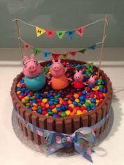 Decoração festa Peppa pig, bolo