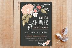 Pressed Flowers Bridal Shower Invitations by Alethea and Ruth at minted.com