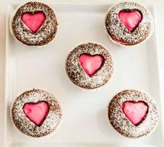 Chocolate Cupcakes with Heart Shape Cutouts {Recipe}