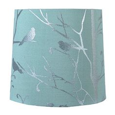 Threshold leaf bird print ground lamp shade adventure teal blue bird hardback lamp shade mozeypictures Choice Image