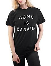 Home is Canada Crew Neck T-Shirt