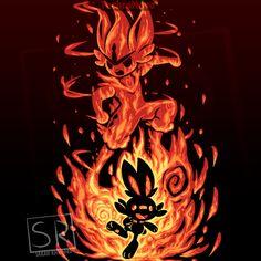 The Fire Bunny Within Anime & Manga Poster Print Cool Pokemon Wallpapers, Cute Pokemon Wallpaper, Festa Pokemon Go, Fire Pokemon, Cat Pokemon, Pokemon Cards, Equipe Pokemon, Deadpool Pikachu, Pokemon Poster