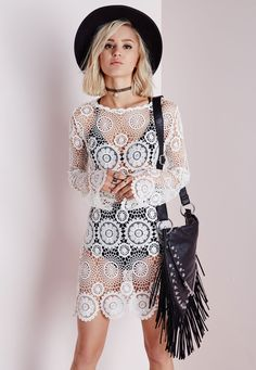 Search results for: 'crochet knitted mini dress cream' Womens Fashion Online, Latest Fashion For Women, 70s Fashion, Fashion Outfits, Fashion 2016, Fashion Trends, Conference Outfit, Cheap Dresses, Swing Dress