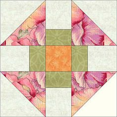 4-1/2-inch or 9-inch Churn Dash Quilt Block
