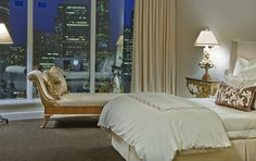 """Escala:  Ana's room.  """"Beyond it is a bedroom with a large double bed, all in white. . . everything, furniture, walls, bedding.  (Book 1, Page 90)"""