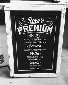 Vintage Chalkboard Bar Sign   #chalkboard #barsignage #handchalked #weddingsignage #capetownwedding