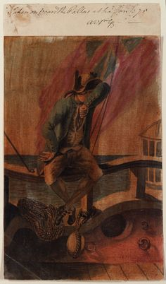 Gabriel Bray. 'Taken on board the Pallas at sea, Jany 75' [Bray album]. January 1775. National Maritime Museum.