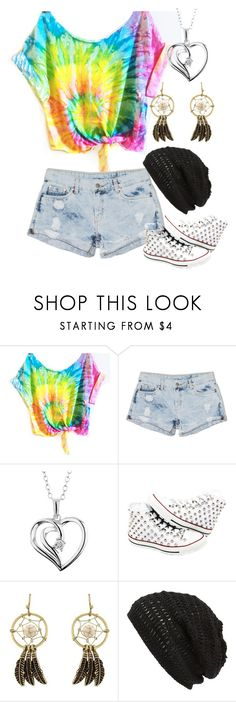 """""""Fashionably Late"""" by unbreakabletomboy ❤ liked on Polyvore featuring Dricoper, Reeds Jewelers, Converse and King & Fifth Supply Co."""