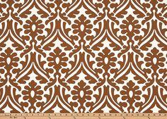 HOLLY Premier prints Fabric Caramel Macon by PREMIERPRINTSEXPRESS