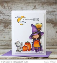 Witch Way Is the Candy? stamp set and Die-namics - Laurie Willison #mftstamps