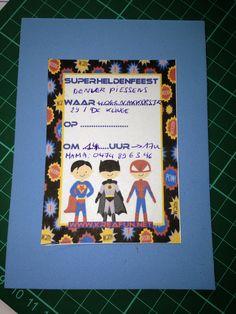 Superheldenuitnodiging!