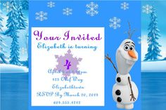 Frozen Theme Birthday Invitations 20 Free Shipping by ALGDezigns, $12.00