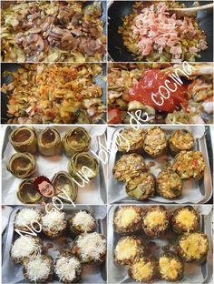 No soy un blog de cocina: ALCACHOFAS RELLENAS DE CHAMPIÑONES y JAMÓN DE YORK