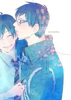 Blue Exorcist Yukio and Rin.