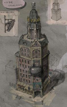 Gravity Rush Concept Art