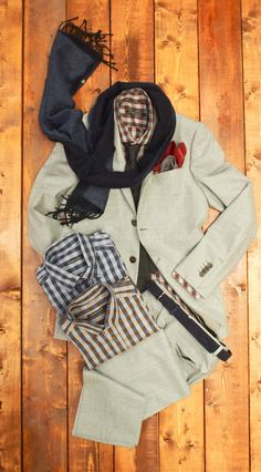 Strellson Double Faced Wool Scarf: $98 Amanda Christensen Pocket Square: $45 Johnny Love Auden Tie: $75 Johnny Love Orwell Flannel Shirt: $1...