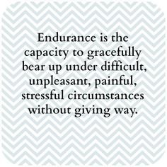 Wednesday Word: Endurance