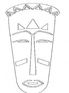 25 African Masks to Print - Early Childhood Education - Aluno On # africanas # . African Masks, African Art, African Drawings, Tiki Tattoo, Kindergarten Art, Early Childhood Education, Early Education, Mask For Kids, Book Projects