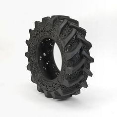 Sculptural, decorative rubber tire by artist Wim Delvoye
