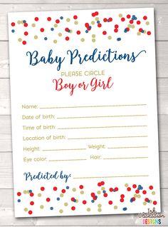 OLILLY Prediction Cards for Baby Shower Gar/çon Boy, 10