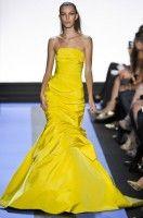 Monique Lhuillier Spring 2012: Solar Power Yellow