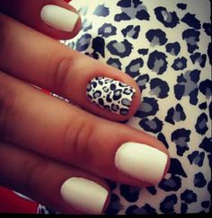 Cheetah nails #gray #black #white