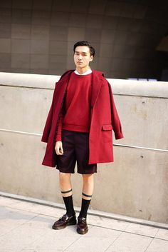 Street Style. Seoul Fashion Week. Photo by Nicholas of Garbagelapsap. The Trotteur is curated by @TheRealPJSmith. menswear mnswr mens style mens fashion fashion style street