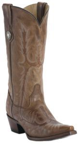 Corral® Ladies Cognac Brown Tall Top Fancy Stitch Snip Toe Western Boots | Cavender's
