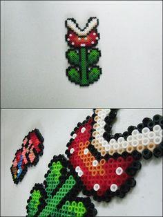 Super Mario 3 - Piranha Plant - bead sprite magnet