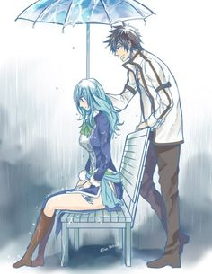 Gray was the only one that could makes the rain stop. ...a Gruvia