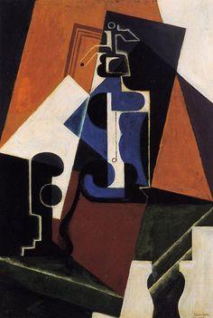 Seltzer Bottle and Glass 1917 | Juan Gris | Oil Painting #cubism
