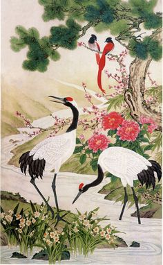 This is a quote of this message Birds and Flowers of Chinese artists Santa-ey Birds and Flowers of Chinese artists' original recordings and comments on LiveInternet. Japan Painting, China Painting, Tatoo Bird, Art Et Architecture, Asian Artwork, Art Chinois, Art Asiatique, Art Japonais, China Art