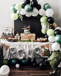 Love how Hayden's party Decor came out! Love how Hayden's party Decor came out! Love how Hayden's party Decor came out! Love how Hayden's party Decor came out! First Birthday Party Decorations, Wild One Birthday Party, 4th Birthday Parties, Dinosaur Party Decorations, Boys First Birthday Party Ideas, Birthday Themes For Boys, Dinosaur First Birthday, 1st Boy Birthday, Circus Birthday