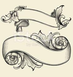 Banner Engravings royalty-free stock vector art