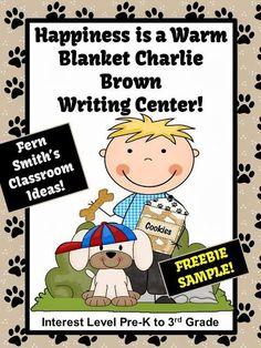 Fern's Freebie Friday ~ Happiness is a Warm Blanket Charlie Brown Writing Activities!   #FREEBIE  #TPT #TeachersFollowTeachers