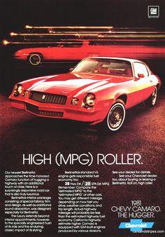 1981 Camaro Berlinetta - High (MPG) Roller - Original Ad